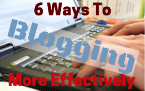 blogging effectively takes work